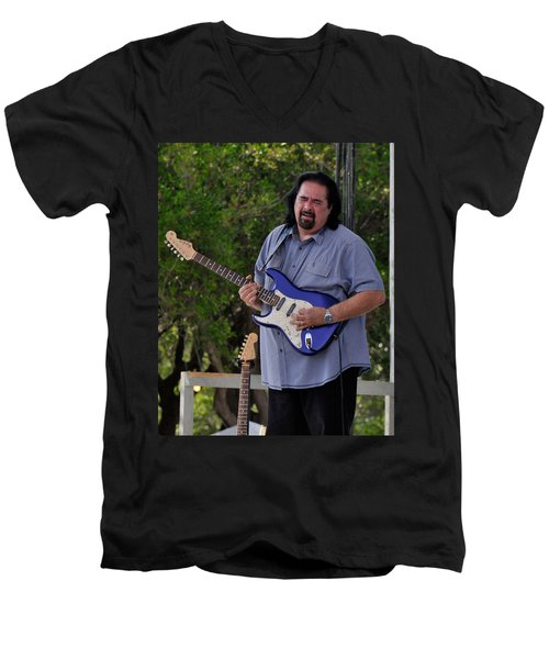 Coco Montoya And His Ocean Blue Fender American Standard Stratoc Men's V-Neck T-Shirt