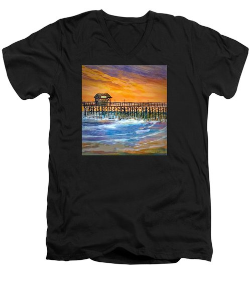 Cocoa Beach Pier Men's V-Neck T-Shirt