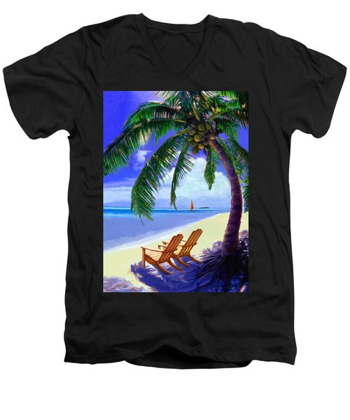 Coconut Palm Men's V-Neck T-Shirt