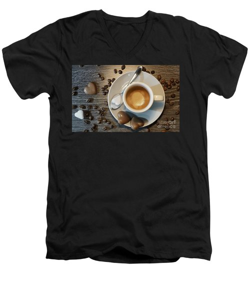 Coffee #1 Men's V-Neck T-Shirt