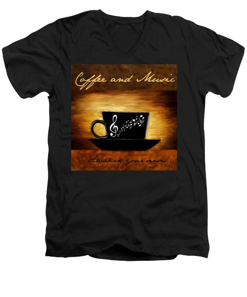 Coffee And Music Men's V-Neck T-Shirt