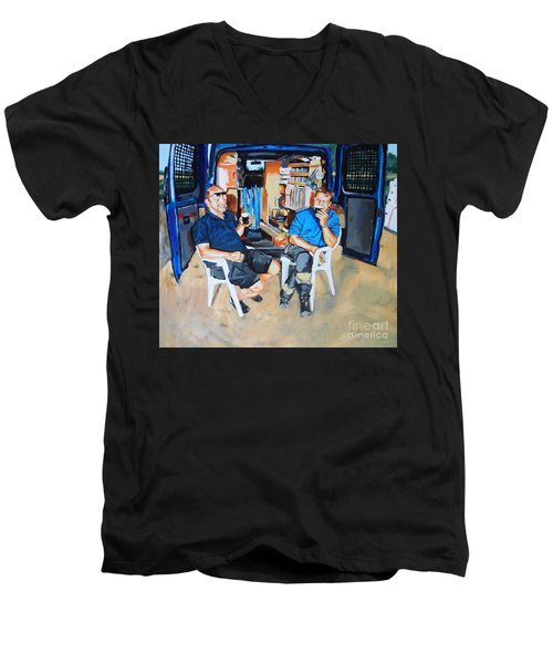 Coffee Break Men's V-Neck T-Shirt