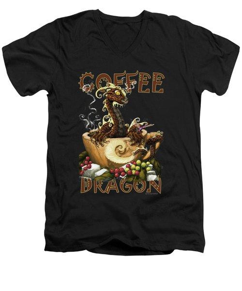 Coffee Dragon Men's V-Neck T-Shirt