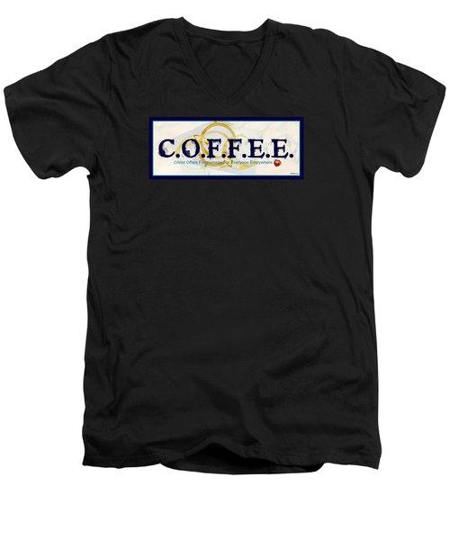 Coffee For Christ Men's V-Neck T-Shirt