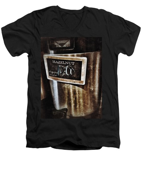 Coffee Time Men's V-Neck T-Shirt by Mark David Gerson