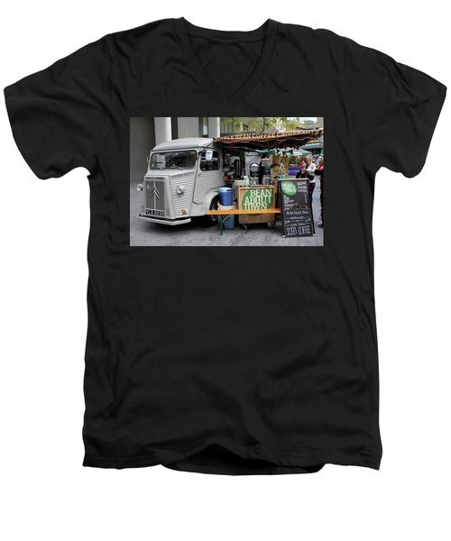 Men's V-Neck T-Shirt featuring the photograph Coffee Truck by Christin Brodie