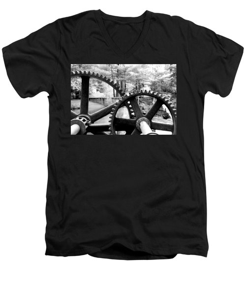 Cogs Men's V-Neck T-Shirt by Greg Fortier