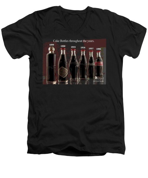 Coke Through Time Men's V-Neck T-Shirt by George Pedro