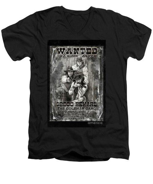 Coleman Gang Wanted Poster Men's V-Neck T-Shirt