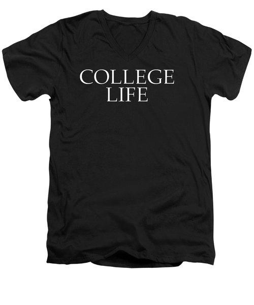 College Life Men's V-Neck T-Shirt