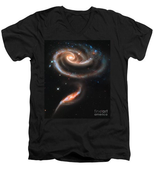 Colliding Galaxies Men's V-Neck T-Shirt