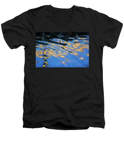 Color Abstraction Lxiv Men's V-Neck T-Shirt