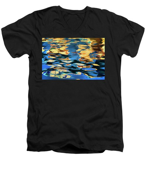 Color Abstraction Lxix Men's V-Neck T-Shirt