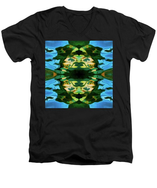 Men's V-Neck T-Shirt featuring the photograph Color Abstraction Lxv by David Gordon