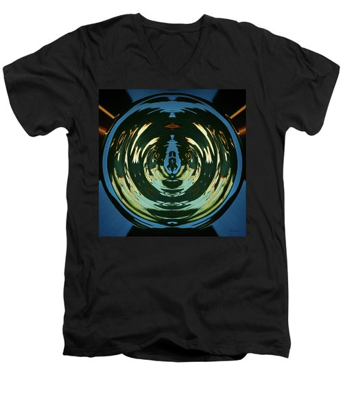 Men's V-Neck T-Shirt featuring the photograph Color Abstraction Lxx by David Gordon