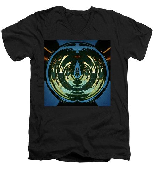 Color Abstraction Lxx Men's V-Neck T-Shirt by David Gordon