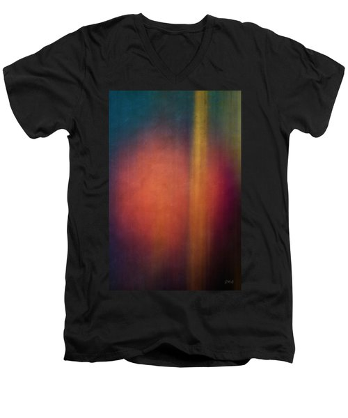 Color Abstraction Xxvii Men's V-Neck T-Shirt by David Gordon