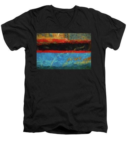 Color Abstraction Xxxix Men's V-Neck T-Shirt
