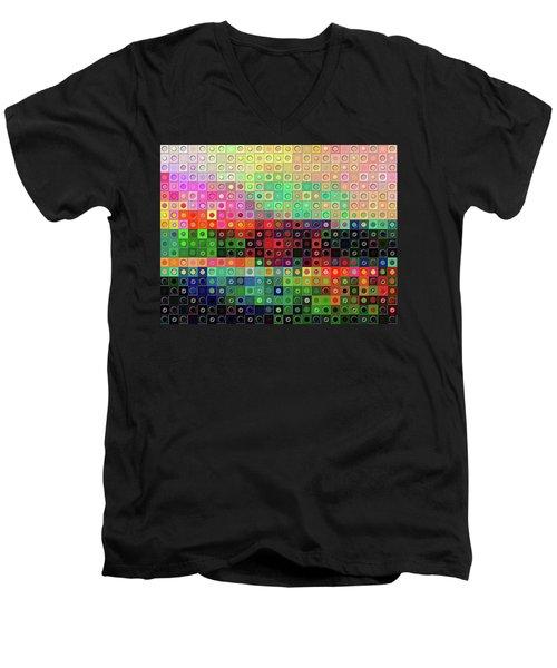 Color Coded Men's V-Neck T-Shirt