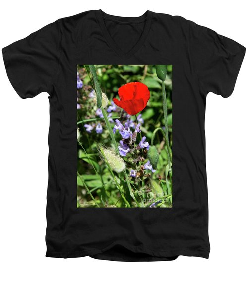 Color Mix 05 Men's V-Neck T-Shirt