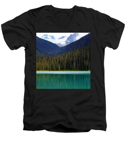 Lower Joffre Lake Men's V-Neck T-Shirt by Heather Vopni