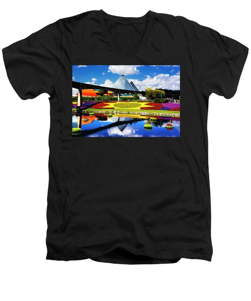 Men's V-Neck T-Shirt featuring the photograph Color Of Imagination by Greg Fortier