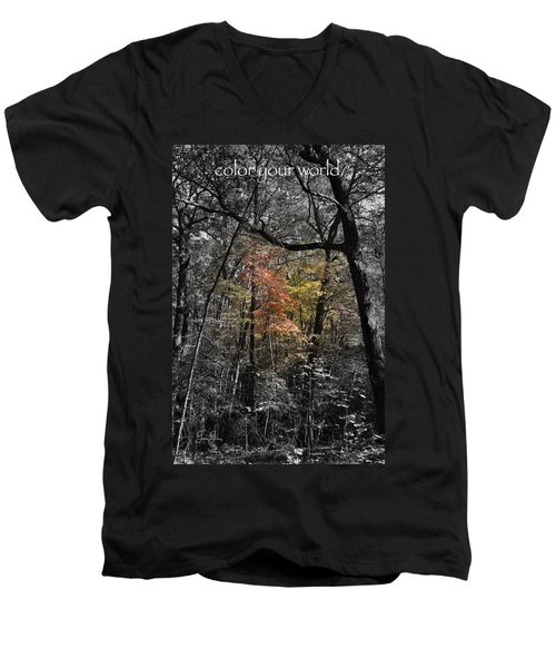 Men's V-Neck T-Shirt featuring the photograph Color Your World by Geri Glavis