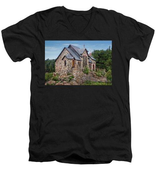Colorado Chapel On The Rock Men's V-Neck T-Shirt