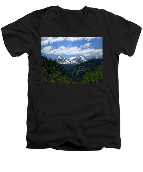 Colorado Rocky Mountains Men's V-Neck T-Shirt