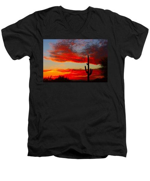 Colorful Arizona Sunset Men's V-Neck T-Shirt