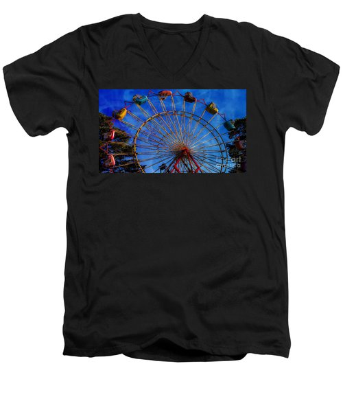 Colorful Ride Men's V-Neck T-Shirt by Sherman Perry
