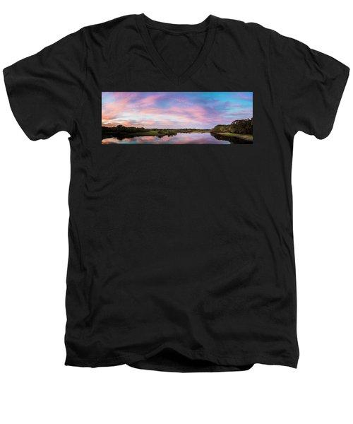 Colorful Sky Men's V-Neck T-Shirt