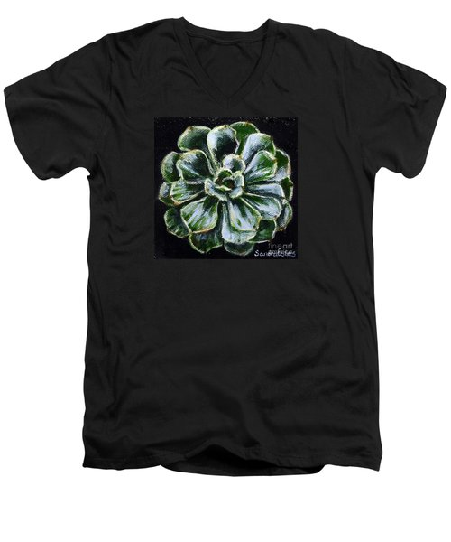Colorful Succulent Men's V-Neck T-Shirt by Sandra Estes