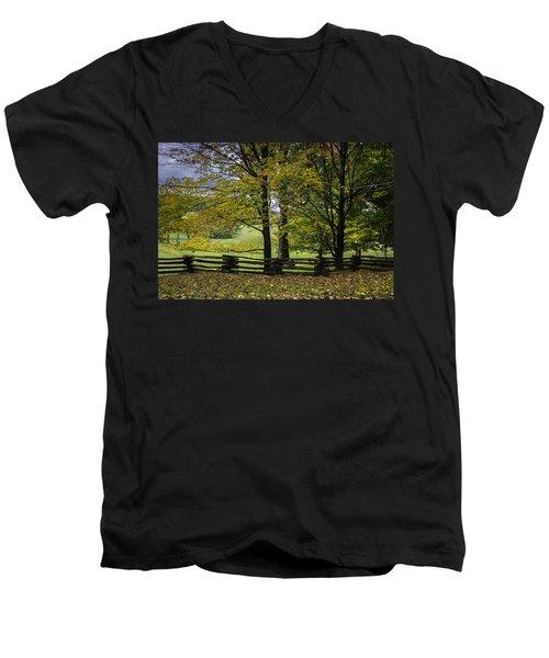 Colors At Mac Rae Field Men's V-Neck T-Shirt
