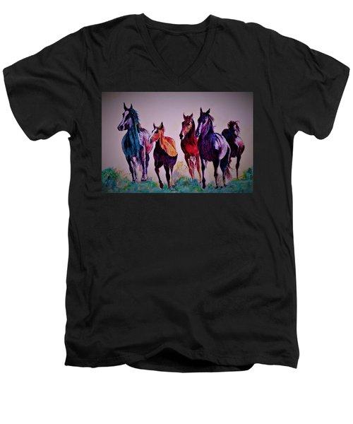 Colors In Wild Men's V-Neck T-Shirt