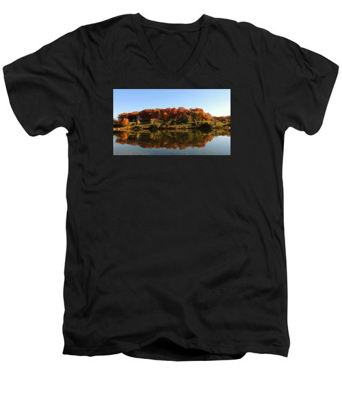 Colors Of Autumn Men's V-Neck T-Shirt by Teresa Schomig