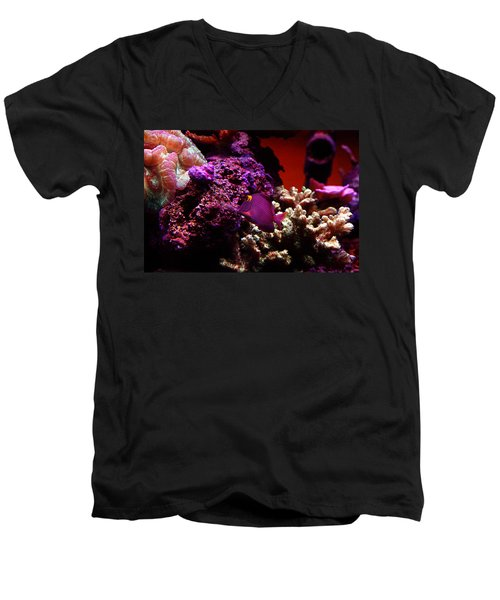 Colors Of Underwater Life Men's V-Neck T-Shirt