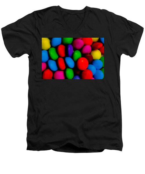 Colourful Abstract Men's V-Neck T-Shirt