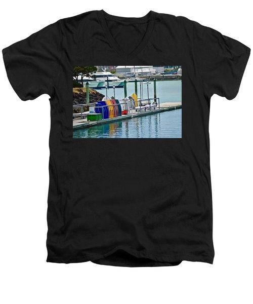 Colourful Dinghies Auckland Men's V-Neck T-Shirt