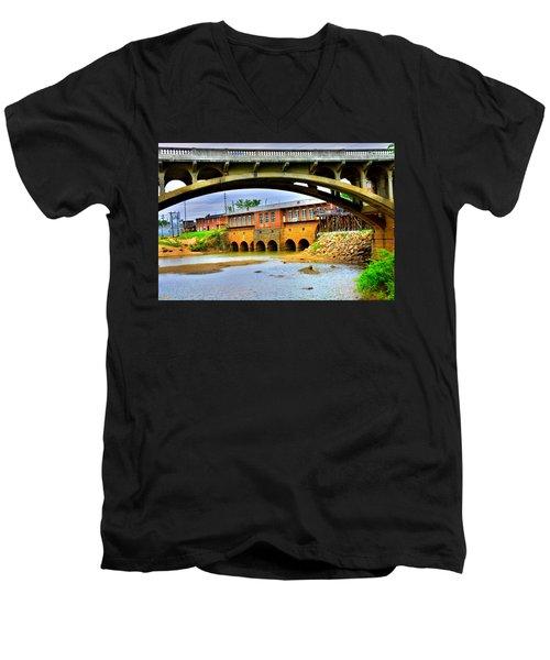 Columbia Canal At Gervais Street Bridge Men's V-Neck T-Shirt