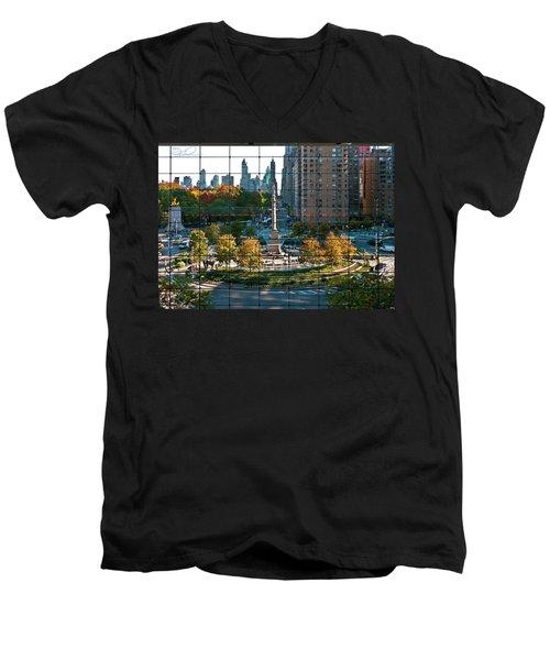 Columbus Circle Men's V-Neck T-Shirt