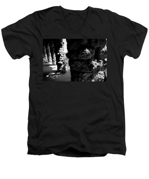 Columns Of The Park Guell Men's V-Neck T-Shirt