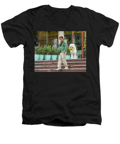 Come On And Play Men's V-Neck T-Shirt