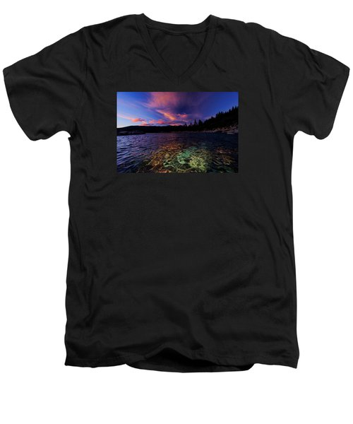 Men's V-Neck T-Shirt featuring the photograph Come To My Window by Sean Sarsfield