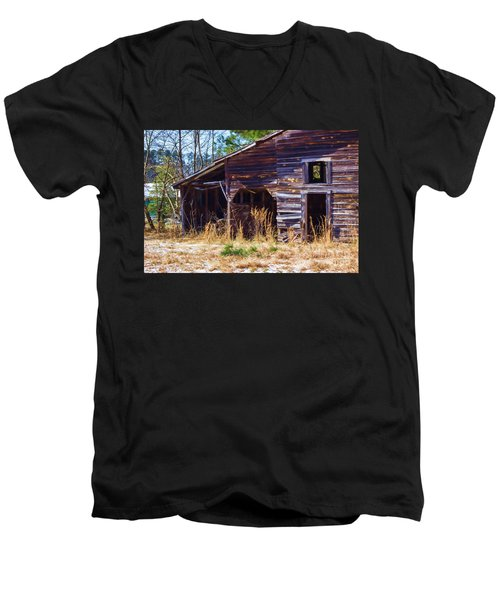 Coming Apart With Character Barn Men's V-Neck T-Shirt