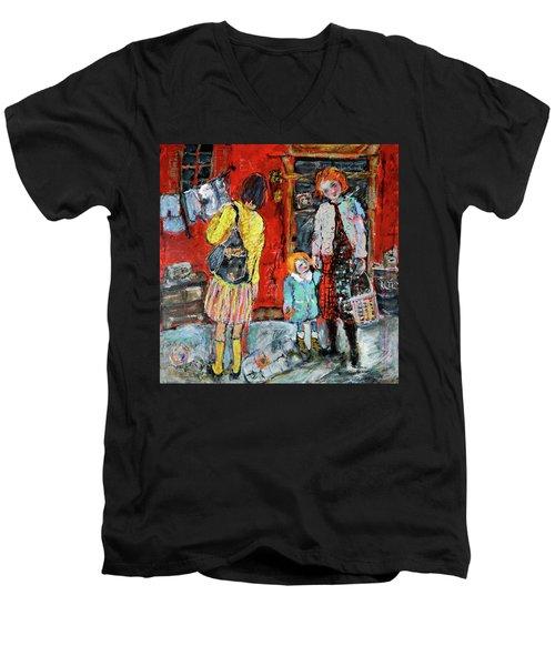 Coming For You Men's V-Neck T-Shirt by Sharon Furner