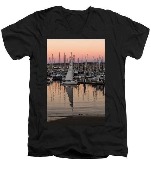 Coming Into The Harbor Men's V-Neck T-Shirt