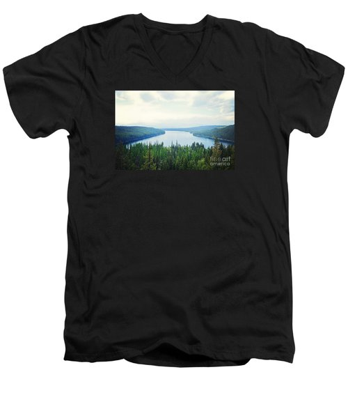 Men's V-Neck T-Shirt featuring the photograph Companionship- Holland Lake by Janie Johnson