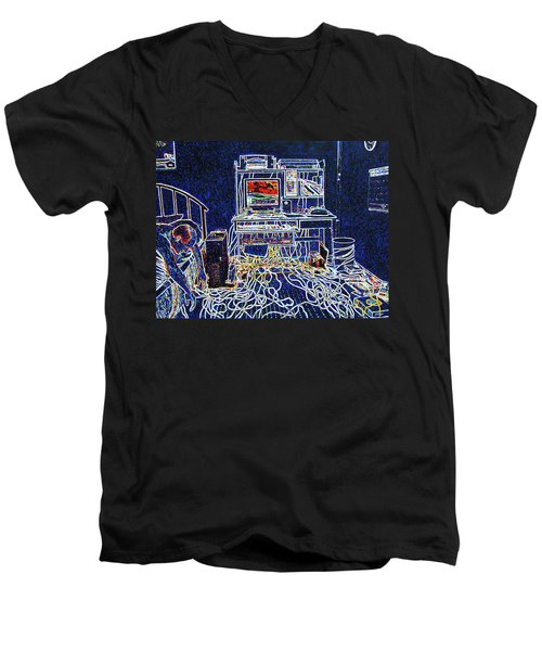 Computers And Wires Men's V-Neck T-Shirt