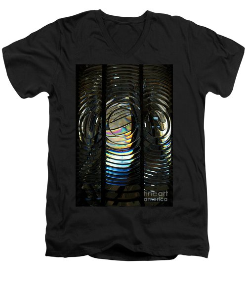Concentric Glass Prisms - Water Color Men's V-Neck T-Shirt
